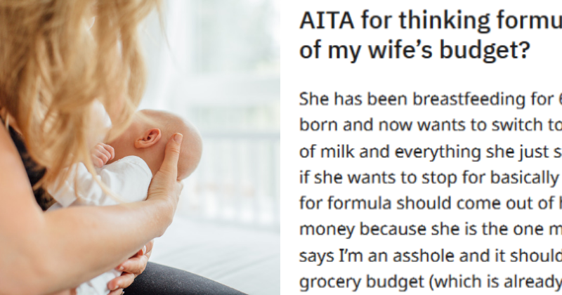 Man Says His Wife Must Buy Baby Formula from Her Spending